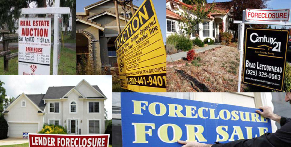 Foreclosure sign montage