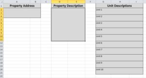 Property description worksheet