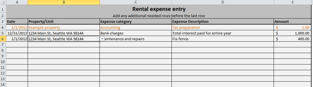 Free expense tracking spreadsheet for your rentals weve updated – Rental Expense Worksheet