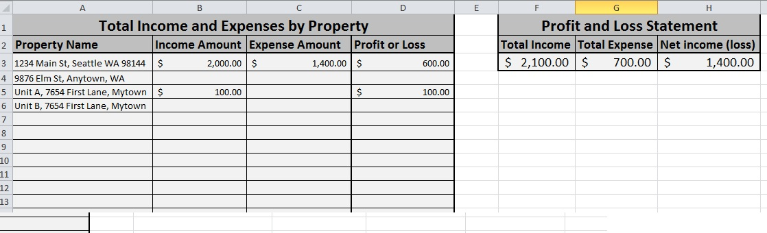 Printables Income And Expense Worksheet need help tracking rental income and expenses try this simple portfolio summary tab of pl spreadsheet
