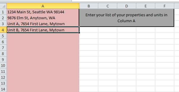 rental excel spreadsheet