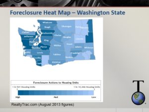 Washington State foreclosure heat map